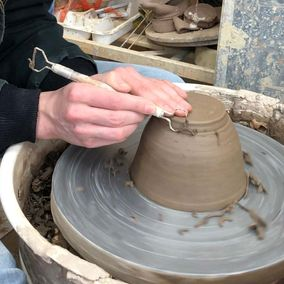 bespoke pottery being worked on